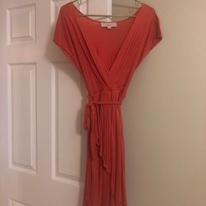 Loft empire waisted dress with tie